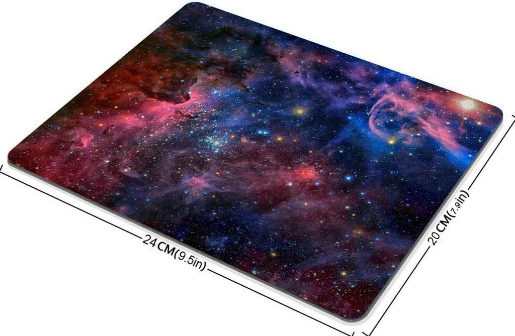 Smooffly Gaming Mouse Pad Custom,Beautiful Space Galaxy Carina Nebula in Infrared Light Non-Slip Rubber Mouse pad Mat