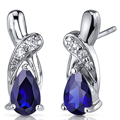 ombr feather diamond earrings saphire white mark blue gold ombre sapphire michael