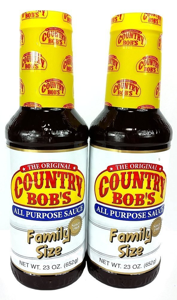 Country Bob's Original All Purpose Sauce, Family Size, 23 Ounce (Pack of 2)