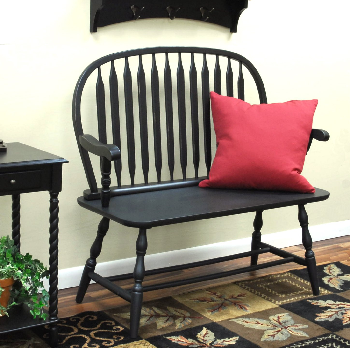 Windsor chair seating bench or single seat for International seating and decor windsor