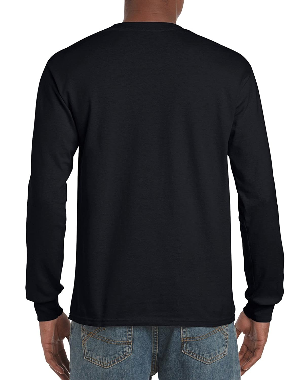 056947bd Gildan Men's Ultra Cotton Adult Long Sleeve T-Shirt, 2-Pack: Amazon.in:  Clothing & Accessories