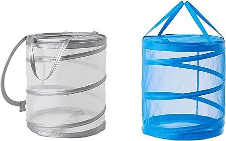Ikea Fyllen Deux Pliable En Maille Filet Panier A Linge 1 Bleu Panier Et 1 Panier Gris Amazon Fr Cuisine Maison