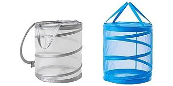 Ikea Fyllen Two Collapsible Mesh Laundry Hamper 1 Blue
