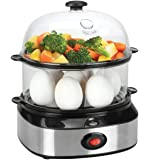 Egg Cooker,PowerDoF ZDQ-702A Multifunctional Dual Layer Electric Egg Cooker with 14 Egg Capacity