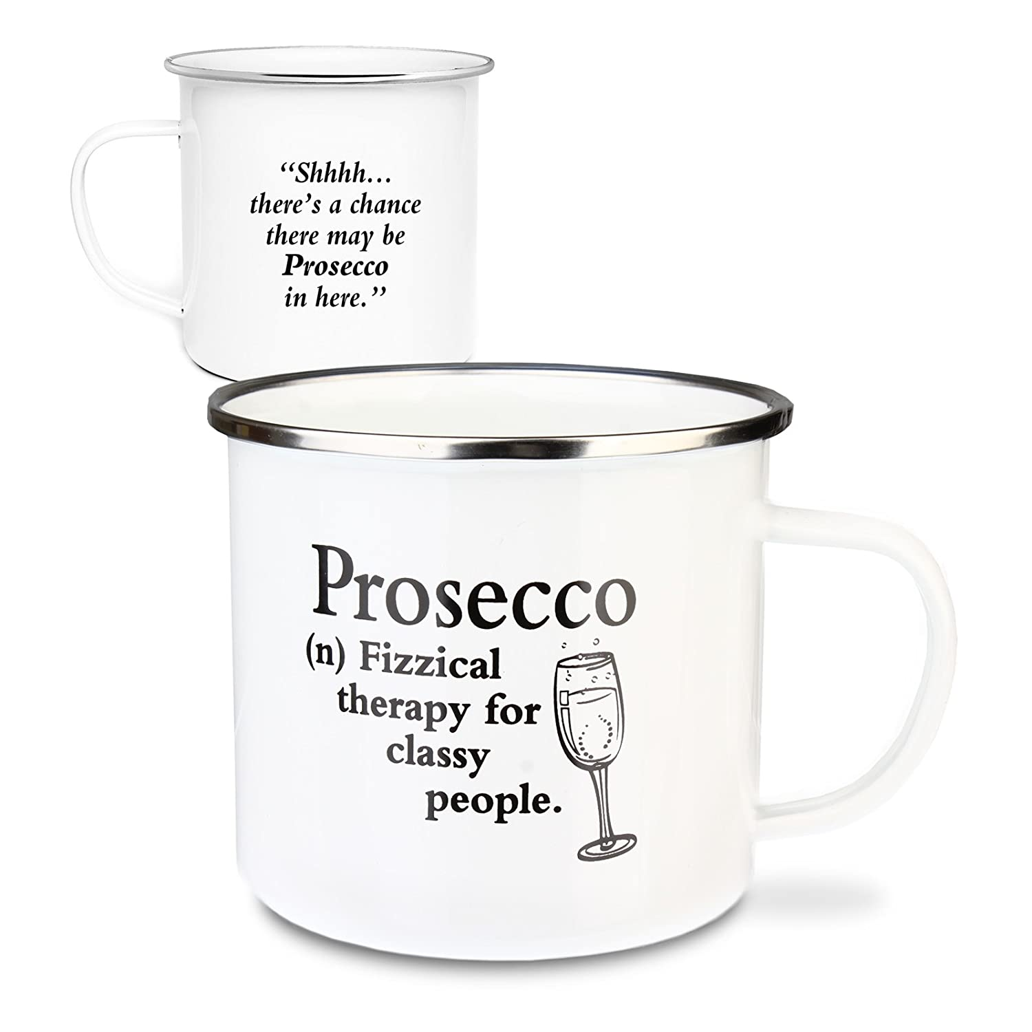 Urban Words Tin Mug'Prosecco' Title and Slang Words Including Meaning. History & Heraldry