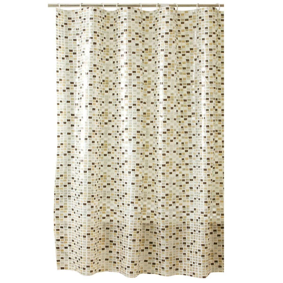Der European Creative Fashion Simple Box PVC Barrier Transparent Waterproof Mildew Transparent Thick Bathroom Shower Curtain Bathroom Accessories