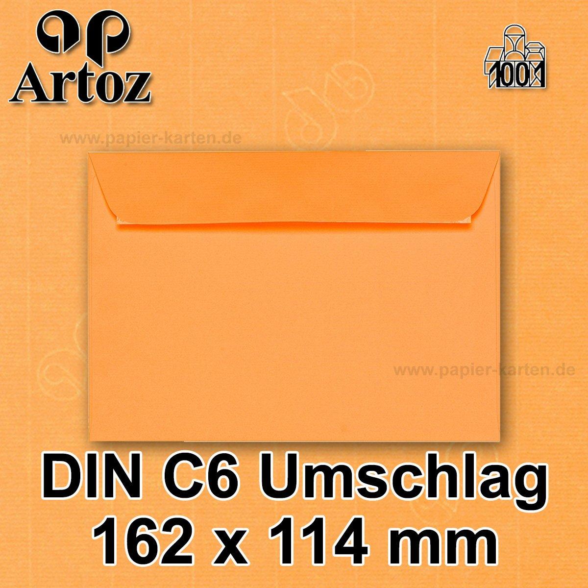 Artoz 1001 Din C6 Envelopes 100 Gm² Parent 50 Stück Mit