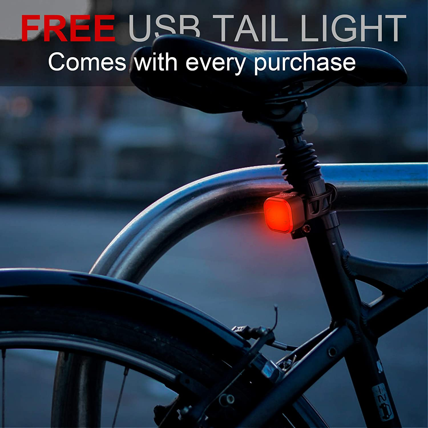 500LM USB Rechargeable Waterproof Bike Bicycle Cycling LED Signal Light 5 Model