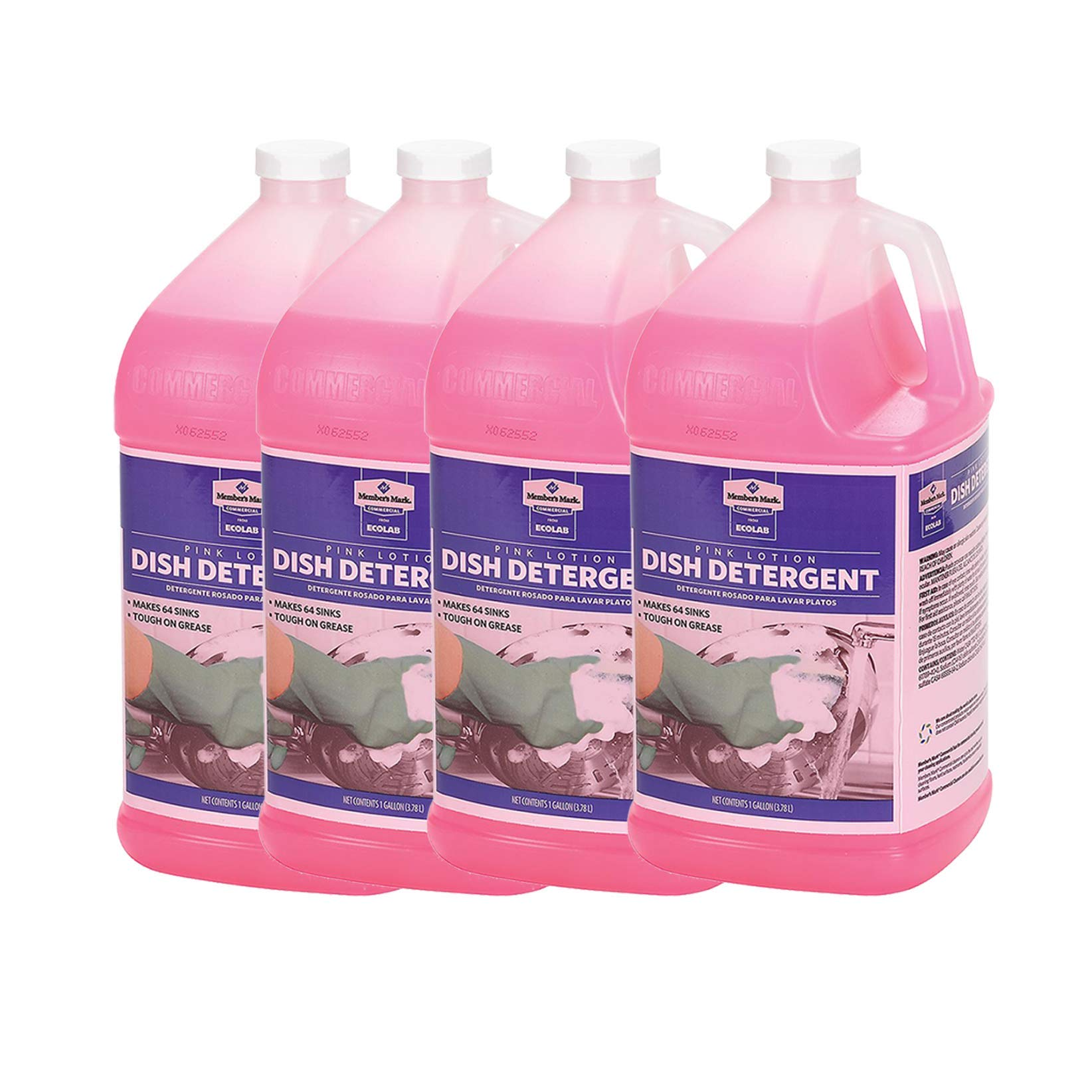 Member's Mark Commercial Pink Lotion Dish Detergent (1 gal.) Pack of 4 by Bulkidoki