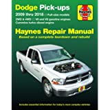 Dodge V6 & V8 Gas & Cummins turbo-diesel Pick-ups (09-18) Haynes Repair Manual (Does not include 2009 fleet models with…