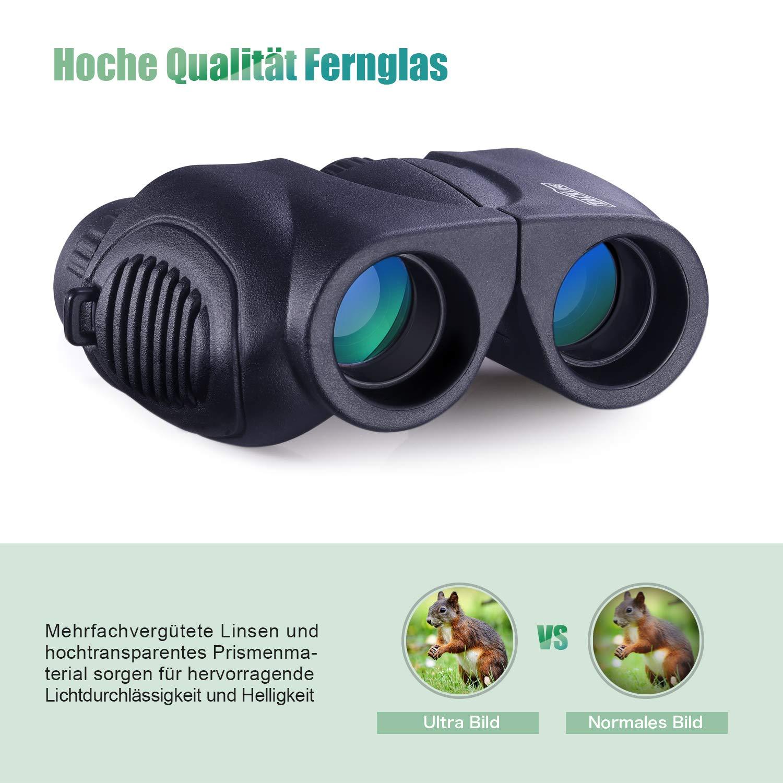 Prism/áticos tacklife mbc03/peque/ño compacto Binocular con visi/ón nocturna 10/x 22/ligero Mini Binocular Plegable telesc/ópico n/ítidos Weitsicht para ni/ños adultos escapadas p/ájaro Observaci/&oac
