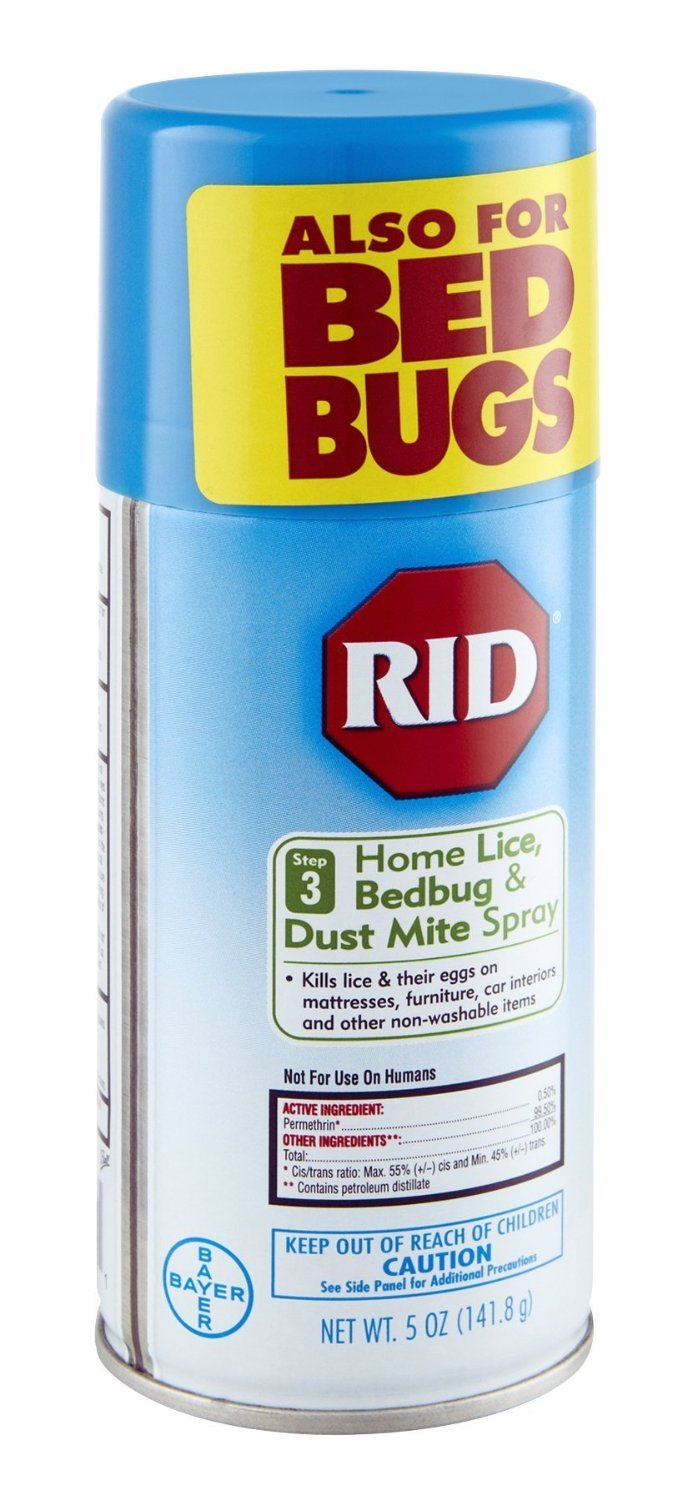Rid Home Lice, Bedbug And Dust Mite Spray - 5 Ounces (Value Pack of 4) by Rid