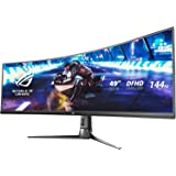 "Asus ROG Strix XG49VQ 49"" Curved Gaming FreeSync Monitor 144Hz Dual Full HD HDR Eye Care with DP HDMI Black"
