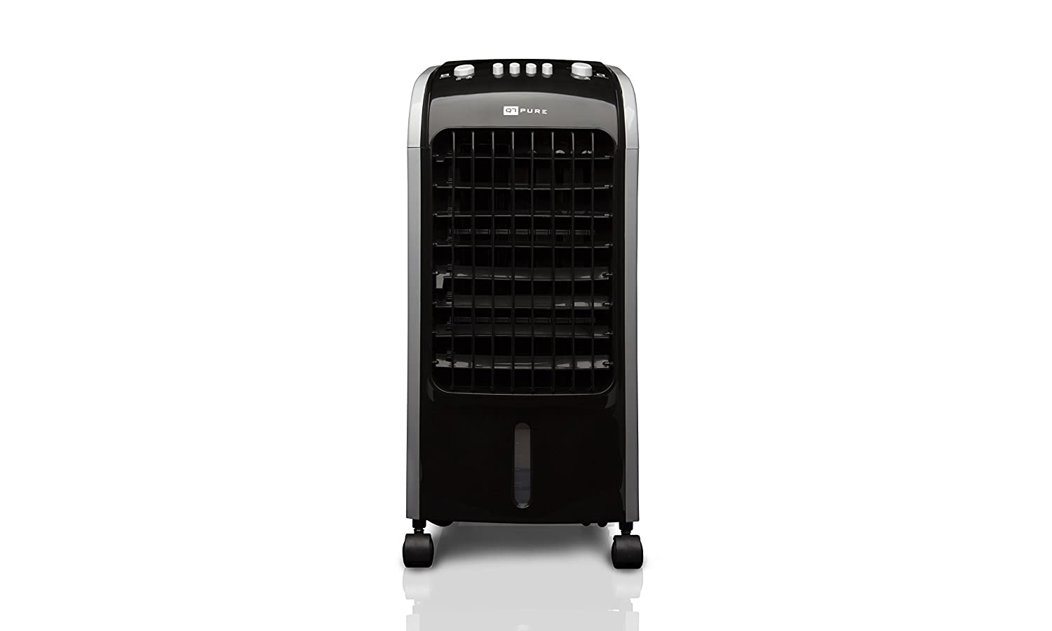 Q7 Portable Air Conditioner Cooler with 3 Speeds 80W, Wheels and Low Noise Level, Black
