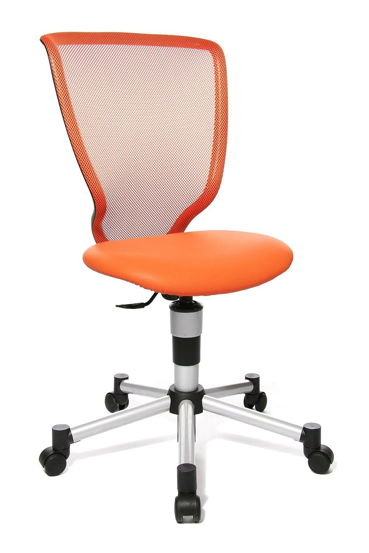 Topstar 71487S01 Titan Junior, Schreibtischstuhl, Kinderdrehstuhl, Jugenddrehstuhl, Netzrückenlehne und Bezugsstoff rot Orange