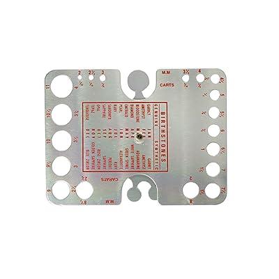 SE Gemstone Gauge Measuring Tool Millimeter and Carats - JT22DG: Home Improvement