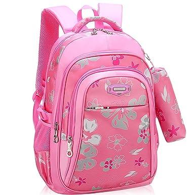 7d20252d1e8 Backpack for Girls, Wraifa Flower Printed Primary Junior High School Bag  Bookbag