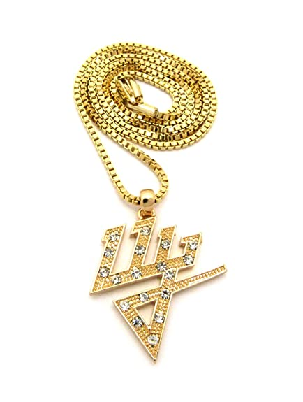 New Iced Out Dy Daddy Yankee Pendant 24 Box Chain Hip Hop