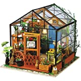 Rolife Dollhouse Wooden Room Kit-Flower Green House-Home Decoration-Miniature Model to Build-Birthday for Girls Friends Boys Mom Wife Daughter (04 Greenhouse)