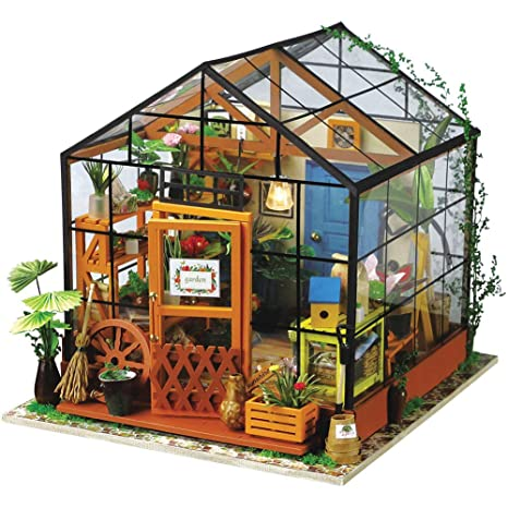 amazon com rolife dollhouse wooden room kit flower green house home rh amazon com model home decorating tips decorated model homes virtual tours