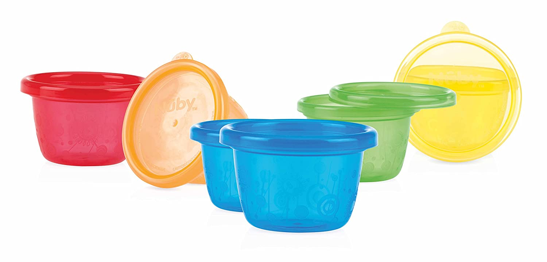 Nûby ID91161A Pick Nick Snack Cups, Schälchen mit Deckel, mehrfarbig, 6er Pack NÛBY Schälchen mit Deckel