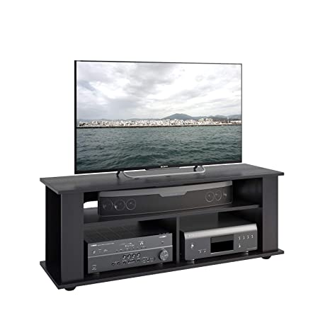 Amazon Com Stylish Black Tv Stand Unit Entertainment Media Console