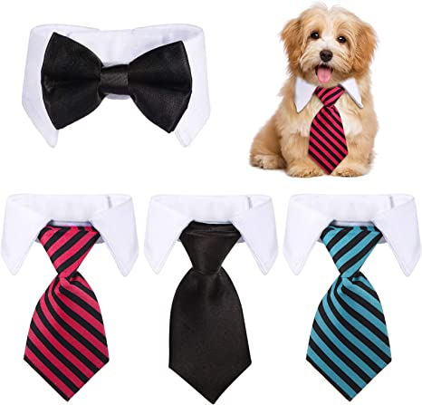 Cat Bow Tie Mermaid Scale Dog Neck Bow Tie Over The Collar
