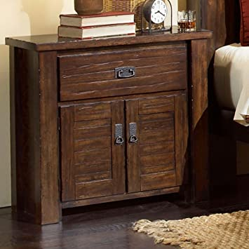 Amazon.com: Progressive Furniture Trestlewood Nightstand, 31\