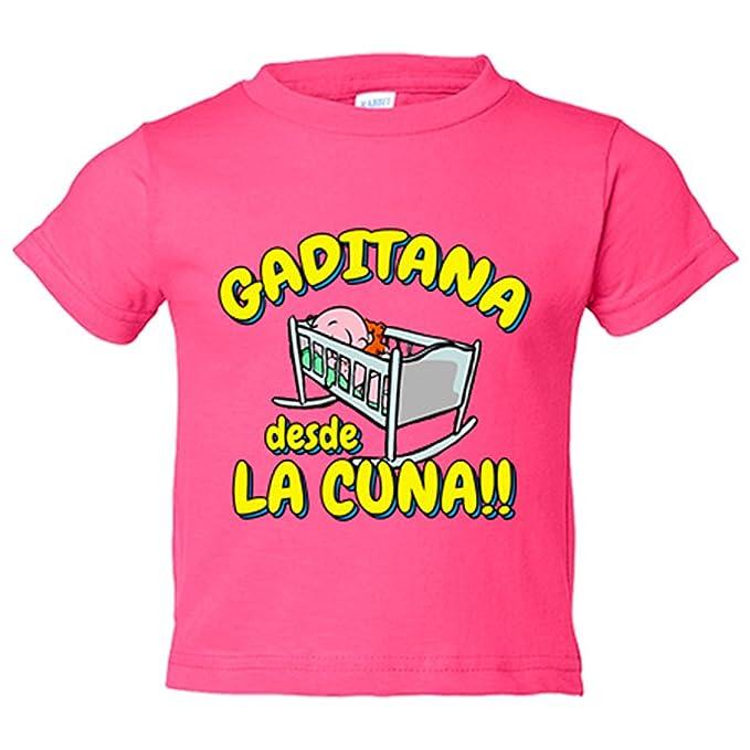 Camiseta niño Gaditana desde la cuna Cádiz fútbol - Amarillo, 3-4 años: Amazon.es: Bebé
