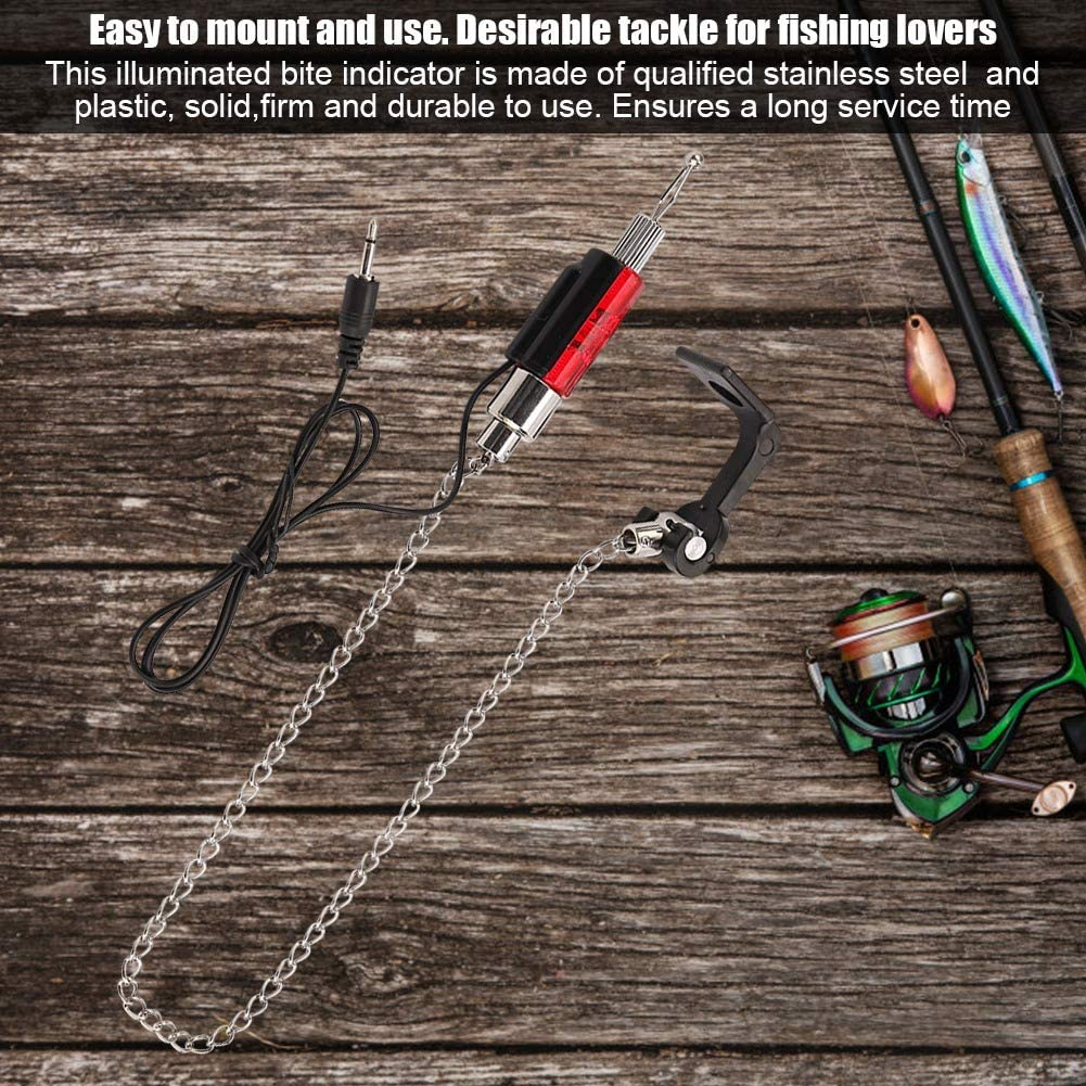 fest und langlebig Sorand Angeln Bissanzeiger Fisch-Bissanzeiger LED beleuchtete Indikatoren Angelger/ät Zubeh/ör ohne Anpassung