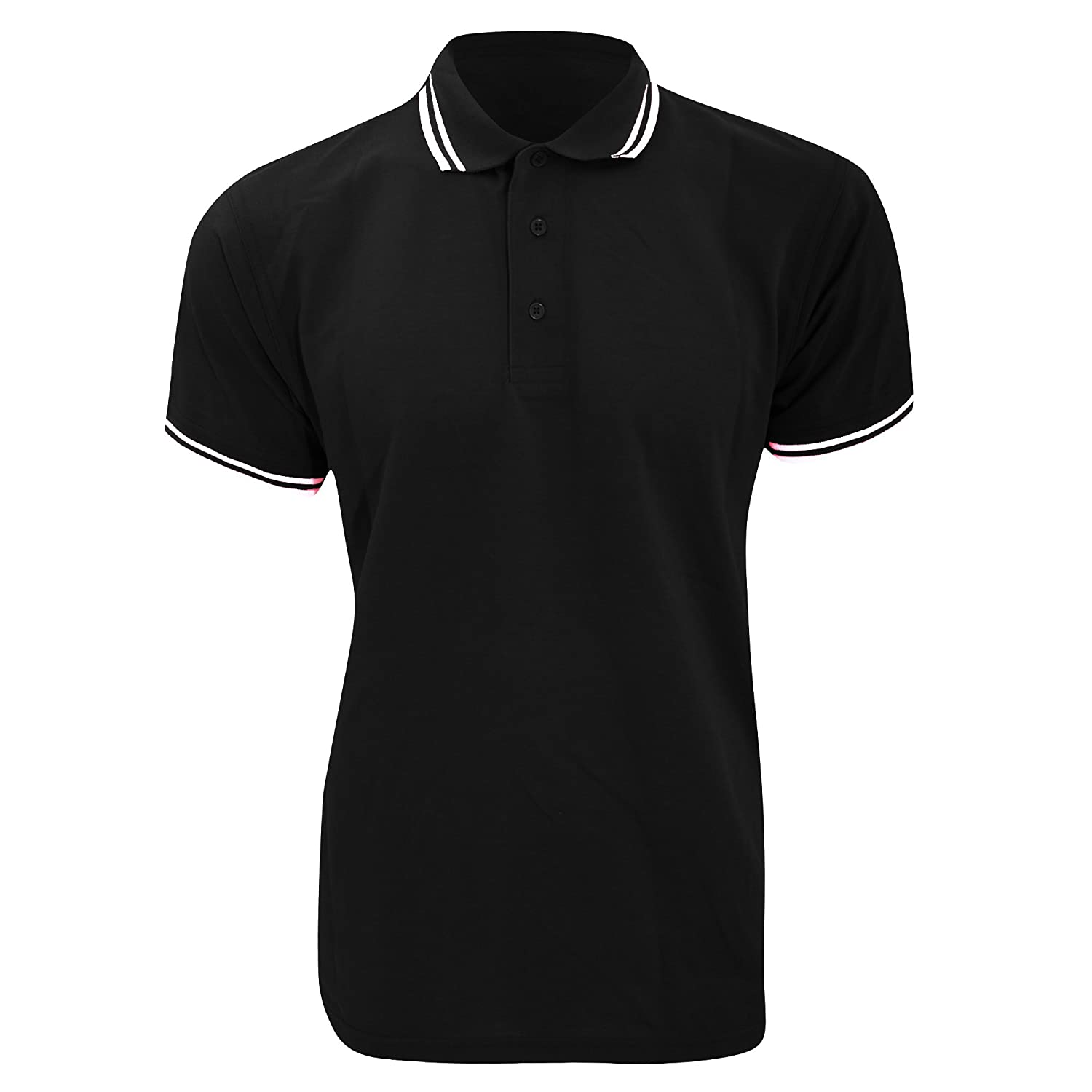 KUSTOM KIT Mens Tipped Piqué Short Sleeve Polo Shirt