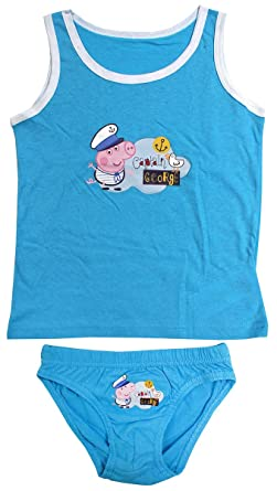 922cb1654 Boys Underwear Peppa George Pig Vest & Briefs Pants Underpants Set Sizes  from 2 to 8 Years: Amazon.co.uk: Clothing