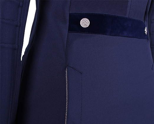QHP Kinder Turniersakko Turnierjacket Lily Junior Softshell mit Kn/öpfen aus Stasss-Steinen und Versch Samt und Glitzerdetails