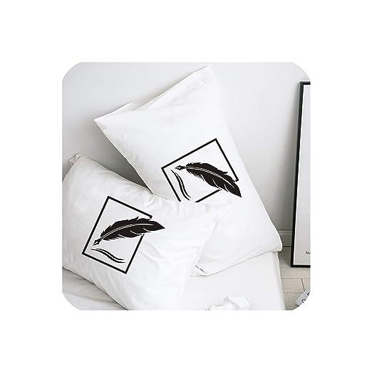Fenyoung-pillowcase Funda de Almohada de 50 x 70 cm, 50 x 75 ...