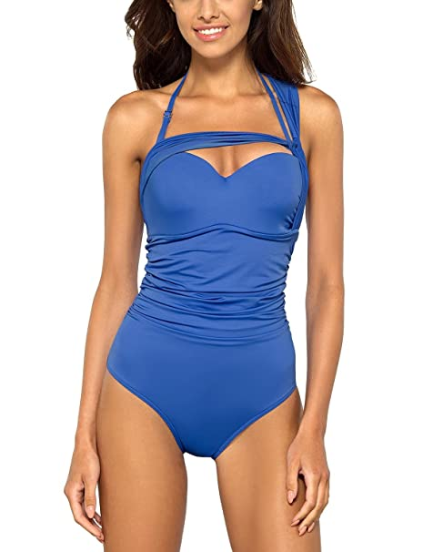 a32238370077 Lorin L4072/7 costume intero liscio monocolorato con ferretti coppe  imbottite - fabbricato in UE: Amazon.it: Abbigliamento