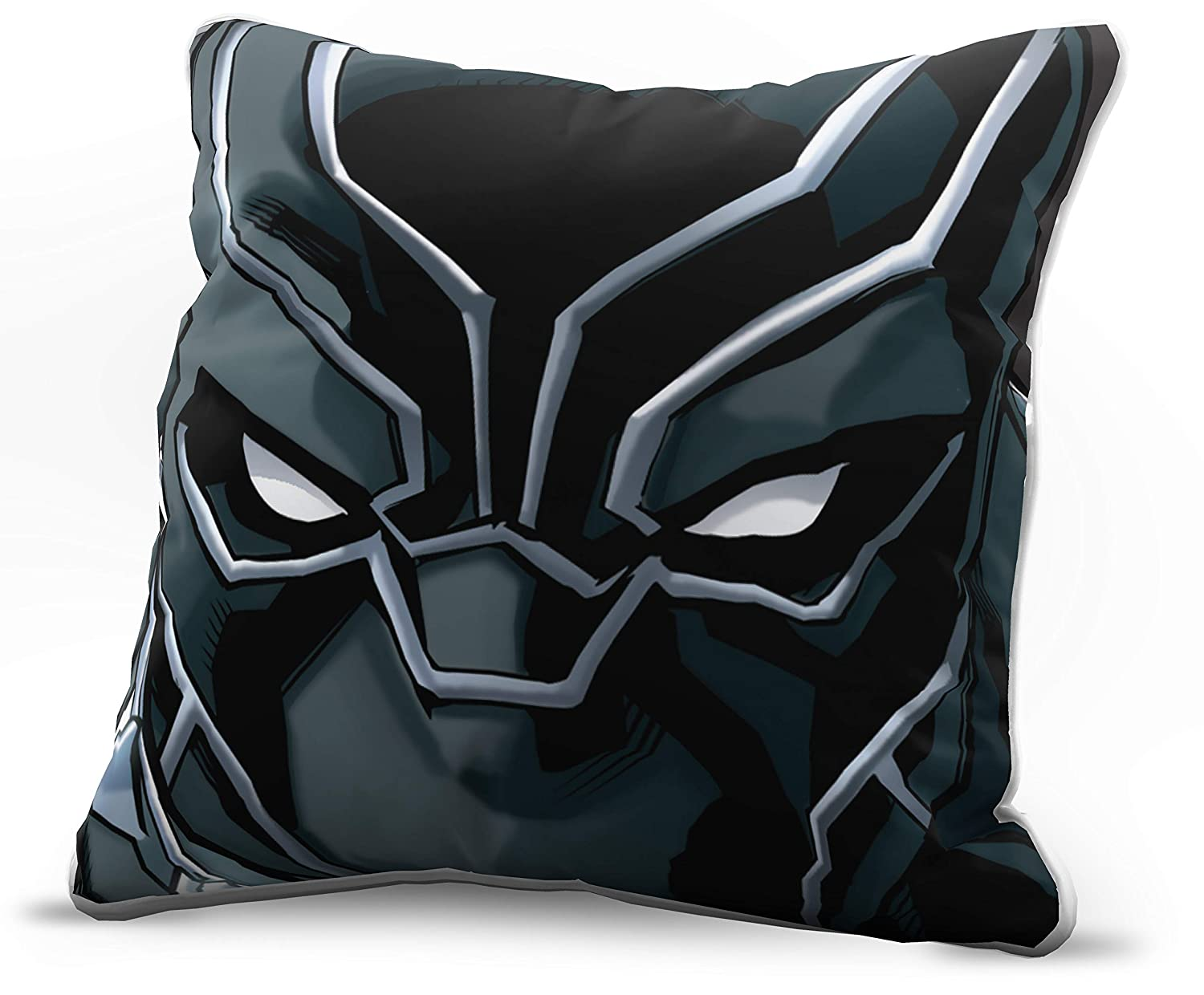 Jay Franco Marvel Avengers Black Panther Face Decorative Pillow Cover - Kids Super Soft 1-Pack Throw Pillow Cover - Measures 15 Inches x 15 Inches (Official Marvel Product)