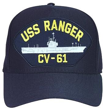 5c9deccb303 Amazon.com  MilitaryBest USS Ranger CV-61 Ships Ball Cap  Clothing