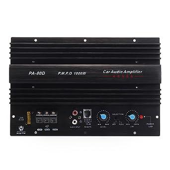 Amplificador de potencia de audio para coche de 1000 W, mono Clase Amp 30 Hz