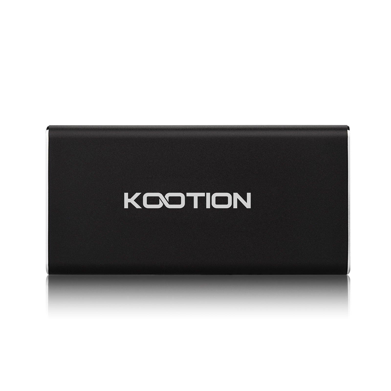 KOOTION X1 128GB External SSD USB 3.0 Portable Solid State Drive, Black