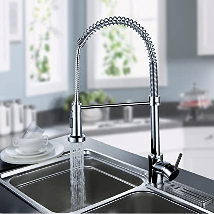 Lightinthebox Deck Mount Contemporary Spring Kitchen Sink Faucet - Tall kitchen faucets