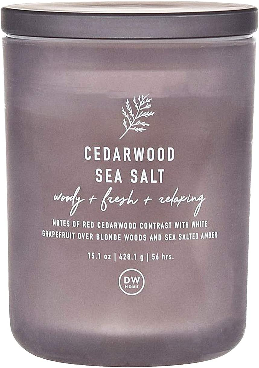 DW Home Cedarwood Sea Salt Scented Large Double Wick Candle