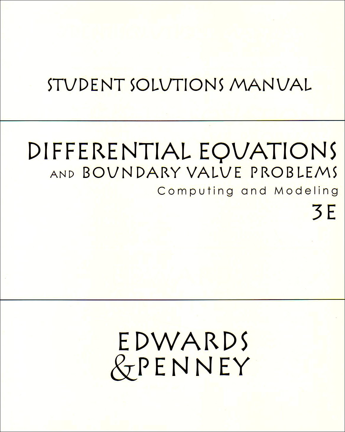 Student Solutions Manual: Amazon.co.uk: C. Henry Edwards, David E. Penney:  9780130475794: Books