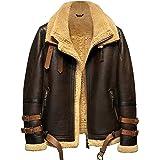 プレミアムムートン羊毛革 メンズ B-3フライトジャケットムートン コート本革 最強防寒ライダース