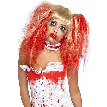 Trenza de enfermera Zombie Horror Punk rojo-rubia de la peluca de la peluca de