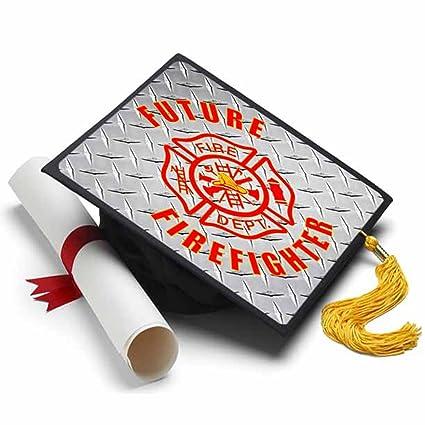 Amazon Tassel Toppers Future Firefighter Graduation Cap