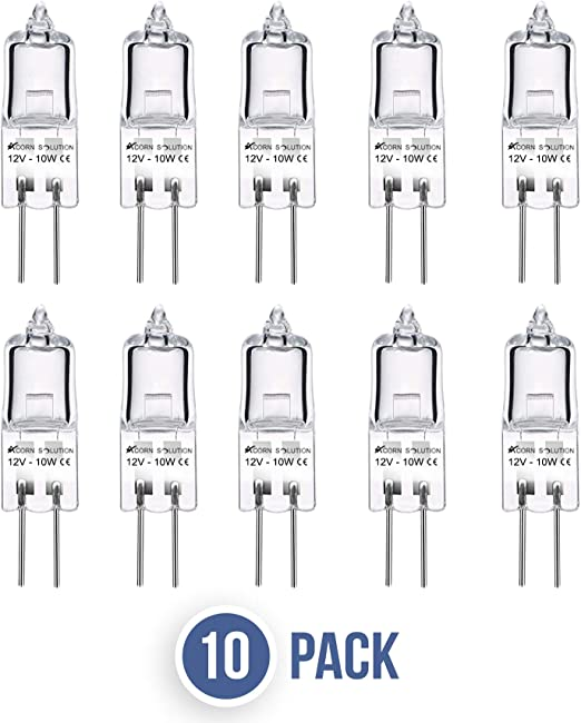 Pack 10  G4 12 Volt  5W 10W Or 20W Halogen Capsule Light Bulbs Lamps  Long Life