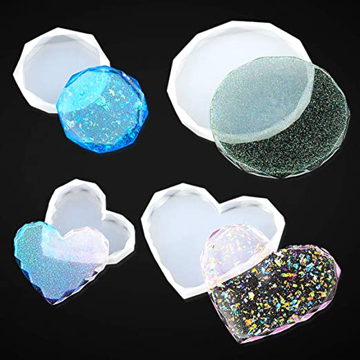 4 Sizes Silicone Diamond Mold Mould for DIY Resin Casting Craft Ornament