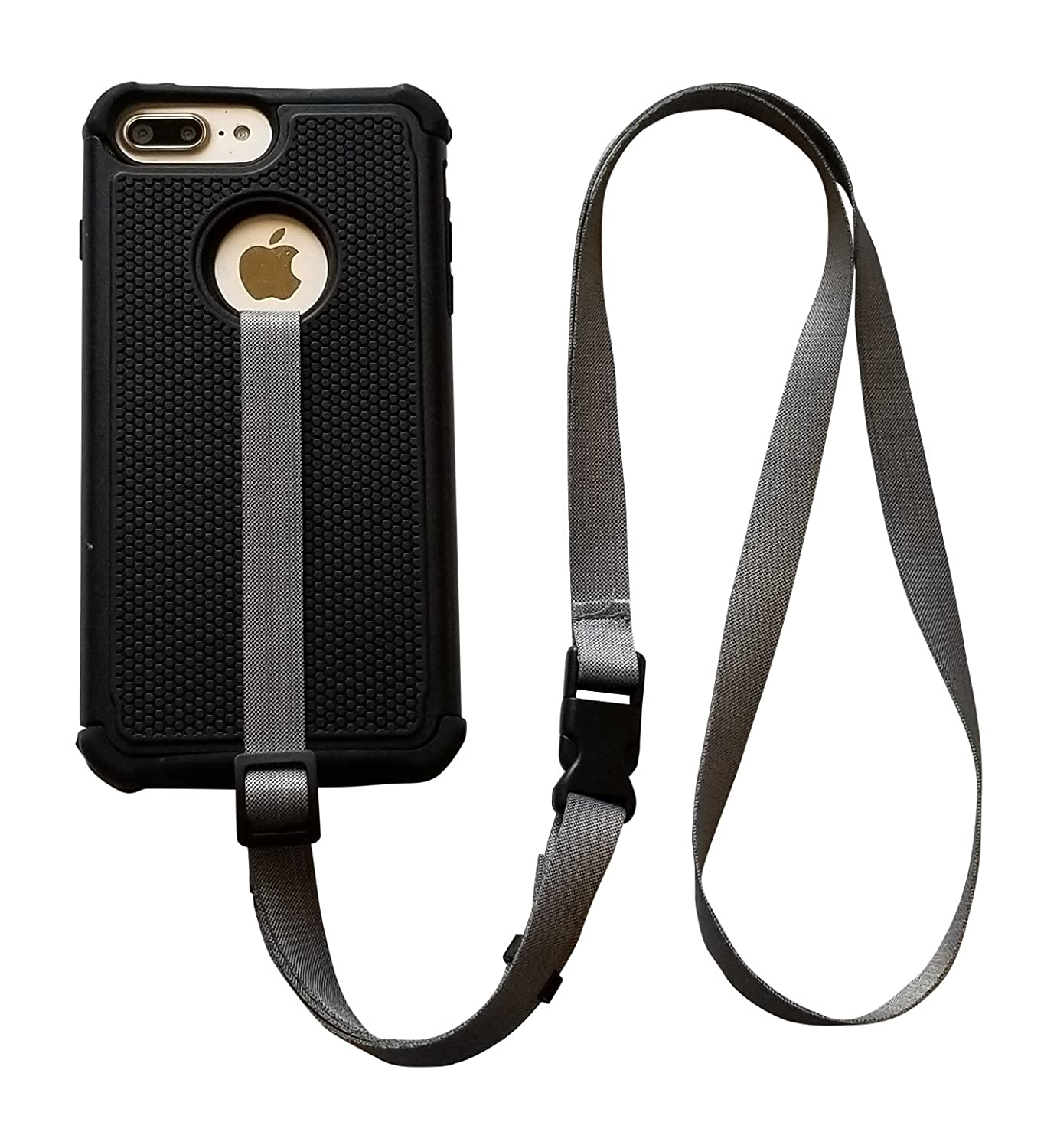 online store ede04 69c24 foneleash 3 in 1 Universal Cell Phone Lanyard Neck Wrist and Hand Strap  Tether (Shade of Gray)