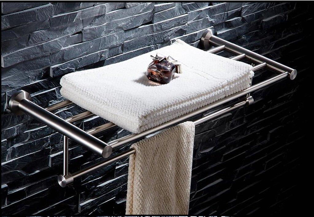 BATHROOM Handtuchhalter Bad Handtuchhalter Handtuchhalter Handtuchhalter 304 Edelstahl gebürstet Handtuchhalter Bad perforierte Zahnstange Handtuchablage (größe   80cm) db3bc9
