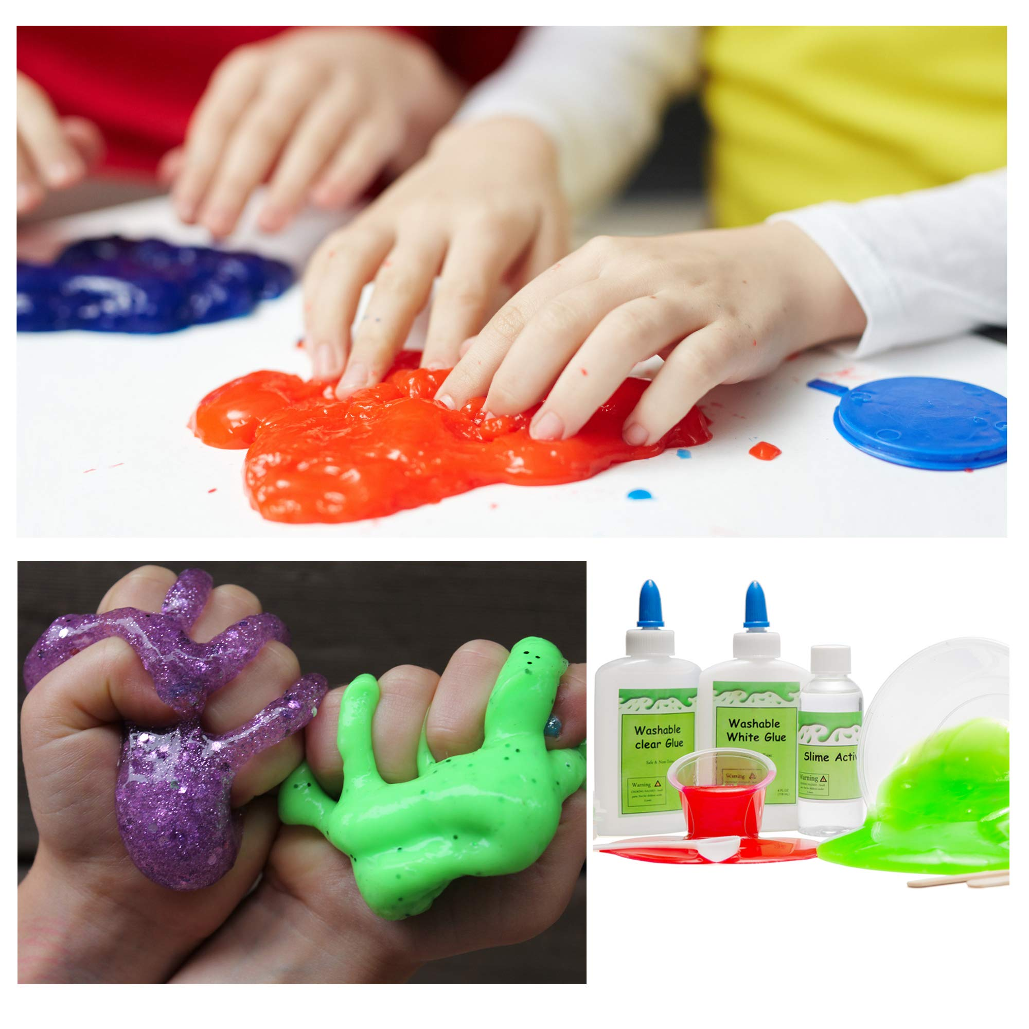DIY Slime Kit -Learn how to make slime! Make Glow-In-The Dark, Clear, Neon and Glitter Slime - Perfect Gifting Option! Comes With Easy To Make Recipes! Super Slime Making Kit for Boys & Girls! by InStyleCraft (Image #4)